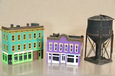 WALTHERS N SCALE AMERICAN 2 3 STORY CITY STORE BURGER SHOP BUILDING WATER TOWER