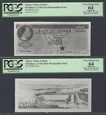 Ghana Face & Back 50 Dollars 1-7-1962  Pick Unlisted Photographic Proof