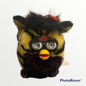 "1999 Nanco 6"" Furby Buddy Stuffed Toy Plush Tiger Yellow Black Striped"