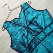 NEXT Ethnic Hippie Boho Sleeveless Holiday Midi Tye Dye Blue Beach Dress 16