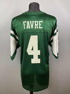 NEW YORK JETS BRETT FAVRE JERSEY NFL FOOTBALL SHIRT REEBOK MENS SIZE XL