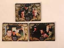 """Buffy The Vampire Slayer """"Big Bads"""" 2004 Complete Triple Threat Chase Card Set"""