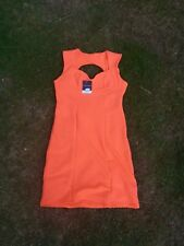 Topshop Neon Orange Body Con Dress Size UK 16 Brand New With Tag Stretch