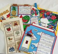 Lot of (6) Vintage Felt Kitchen Calendars - all shown in picture