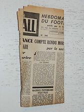 FRANCE FOOTBALL OFFICIEL HEBDOMADAIRE FFF N°386 11/08 1953