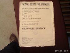 Bantock: A Feast of Lanterns, Chinese Songs, med.vocal (Elkin) Vintage, fragile