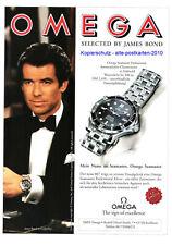 Omega Uhr Seamaster mit James Bond 007 Pierce Brosnan - Legende - Werbung - 1996