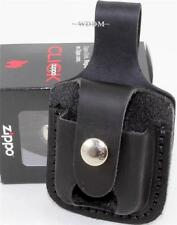 Zippo Black Leather Lighter Pouch/Case/Holder Belt Loop Sheath Made In U.S.A.