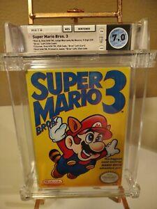 Super Mario Bros 3 LEFT BROS💎 WATA Graded 7.0 CIB💎 Complete Nintendo NES