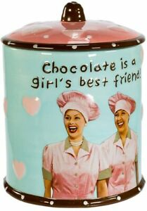 """I Love Lucy """"Chocolate Is A Girl's Best Friend"""" Cookie Jar"""