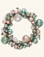 Victorian Trading Co Jewel Glass Spring Baubles Ornament Wreath Pastel