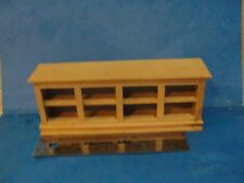 Dollhouse natural wood store counter Town Square 1:12th