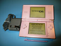Nintendo DS Lite Coral Pink System w/Charger FREE Shipping!
