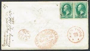 1872 West Point-London via 'Vandalia' Packet on her LAST Transatlantic Crossing