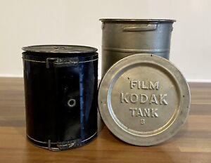 Kodak Film Tank B Antique Brass Metal Film & Canister Camera Accessories