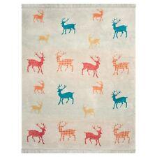 Kuscheldecke Hirsch rot beige Wohndecke couchdecke Pad Decke Bambi 150 x 200 cm