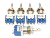5 Pack Fujisoku  8N1021 Momentary SPDT ON (ON) Push Button Panel Switch 6a 125V