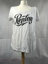 Replay Womans White Scoop Neck T-Shirt Size Medium BNWT