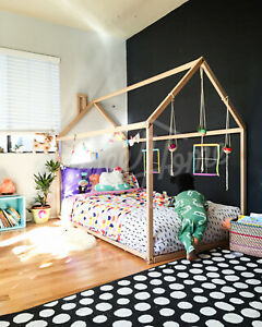 Toddler bed, House bed, Children bed, Wooden house, Tent bed Wood house Wood nur