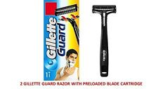 2X Gillette Guard Razor Shaving Razor Men Use & throw travel safety razor