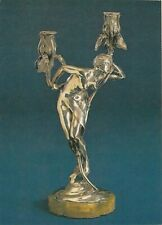 Silver Candelabrum Dream By Maurice Bouval Art Deco POSTCARD Magna Edition 1990s