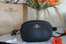 Coach F73952 Convertible Belt Bag Crossbody in Pebble Leather Black