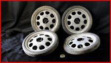 roues anciennes voiture à pédales  jeu de 4 pneus pleins colombes  goodrich