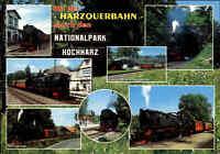 EISENBAHN Motiv-Postkarte Harzquerbahn Harz Lokomotiven Züge Dampflok Loks color
