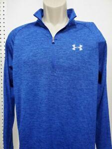 NEW Mens Under Armour Royal Blue Flex Pullover Shirt XXL