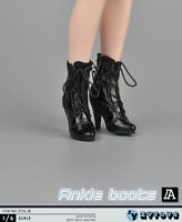 ZY TOYS Female White Mid-cylinder Boots w// Joint 1//6 Fit for Phicen Kumik Body
