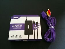 NEW Indigo AV Audio Video Cable & AC Power Cord Set For Nintendo Gamecube