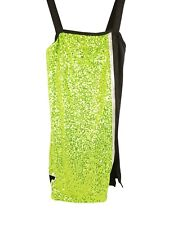 Cheer Dress Green Sequin w/ Mt Stamp Patch - Women's Adult Large
