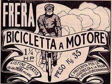 PUBBLICITA' 1908 FRERA BICICLETTA A MOTORE UMBERTO BOCCIONI FUTURISMO NUVOLA