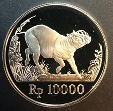 Indonesia - Silver 10000 Rupiah Coin - 25th Anniversary WWF - 1987 - Proof
