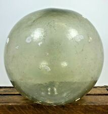 """Rare Vintage 10"""" Blown Japanese Chinese Glass Fishing Float Buoy Clear Smoke"""