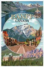 Banff National Park Alberta Canada Montage Lake Louise Hotel etc Modern Postcard