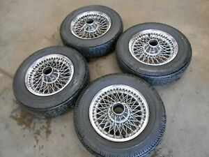 "Jaguar E-Type Series 1 2 Chrome Spoke Wheels. 5.5"" wide. Mark 2, S-Type."