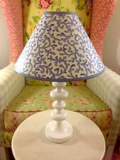 CROSCILL FILIGREE SAVOY SHABBY CHIC FRENCH COUNTRY LAMP SHADE BLUE WHITE