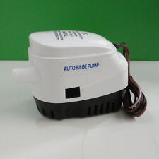 750 GPH  Automatic Bilge Pump Marine Boat Built in Float Switch White 12V Nice