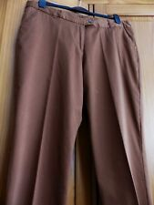 Peacocks Ladies Brown Casual Trousers, Size UK 16 (EUR 44) Excellent Condition!