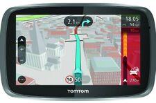 """Tom Tom GO 5100 GPS SatNav 5"""" LIFETIME 3D World Maps Sim & Data Included*SEALED*"""