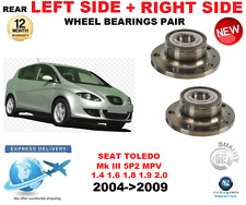 FOR SEAT TOLEDO REAR WHEEL BEARINGS PAIR 2004>2009 Mk III 5P2 MPV LEFT and RIGHT