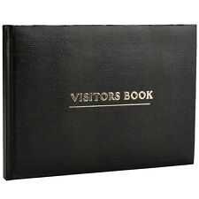 Deluxe Visitor Book Black Business Hotels Guest Houses Reception -VBK