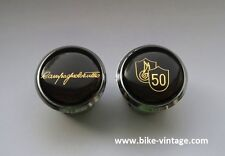 Tulio Campagnolo 50th Anniversary Lenkerstopfen Handlebar Plugs gold endstopfen