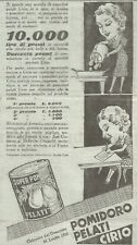 Y3296 Pomidoro pelati CIRIO - Pubblicità d'epoca - 1935 vintage advertising