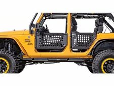 Body Armor Complete Set of 4 Trail Doors and 2 Trail Mirrors 07-17 Jeep JK U 4dr