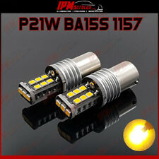 P21W BA15S 1157 382 Set Kit Yellow LED Bulbs Side Indicator Lights CANBUS