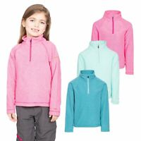 Trespass Meadows Kids Lighweight Fleece with 1/2 Zip Neck Girls School Jumper