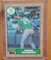 1987 TOPPS MARK MCGWIRE RC Rookie Error Honeycutt Back Wrong Name One Of A Kind