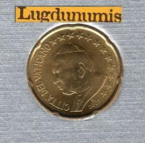 Vatican 2003 20 Centimes D'Euro BU FDC 65 000 exemplaires Provenant du BU RARE
